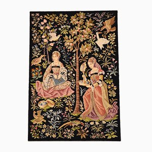 Antique Hand-Stitched Tapestry
