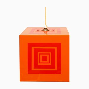Pop Art Cube Ceiling Lamp, 1970s