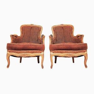 Antiker Louis XV Bergere Sessel
