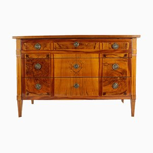 Antique Louis XVI Walnut Veneer Chest of Drawers, 1780s