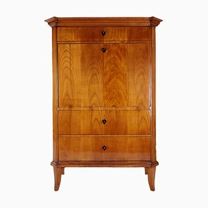 Antique Biedermeier German Cherrywood Veneer Secretaire, 1820s
