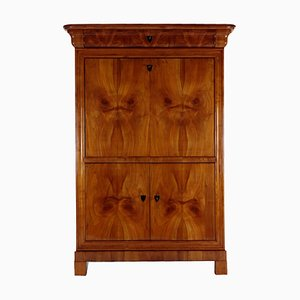 Antique Biedermeier German Cherrywood Veneer Secretaire, 1830s