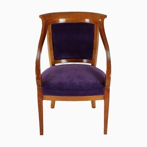 Antiker Biedermeier Stuhl aus Massivem Kirschholz, 1830er