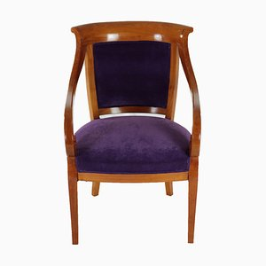 Antique Biedermeier Solid Cherrywood Chair, 1830s