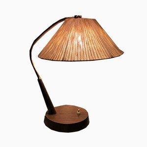 Model 33 Teak & Raffia Desk Lamp from Temde, 1960s