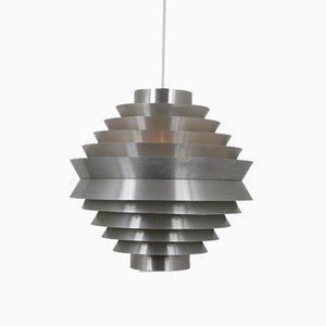 Große Niederländische Mid-Century Aluminium Deckenlampe von Raak, 1960er