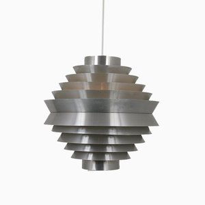 Large Mid-Century Dutch Aluminum Ceiling Lamp from Raak, 1960s