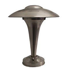 Lampada da tavolo Art Déco in alluminio, anni '30