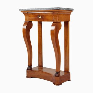 Antique Biedermeier Marble Console Table, 1810s