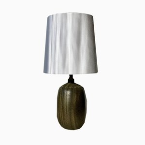 Vintage Brown Green Table Lamp from Agne Aronsson, 1960s