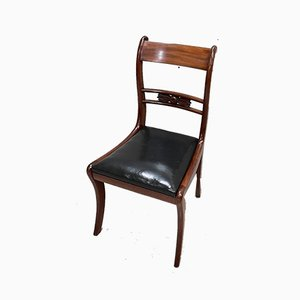 Antique British Mahogany Dining Chairs, Set of 6