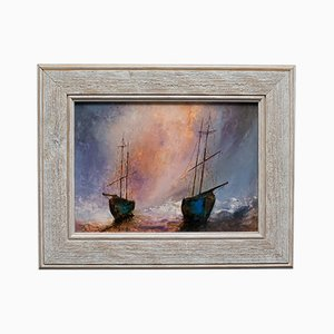 Framed Maritime Oil Painting from David Chambers