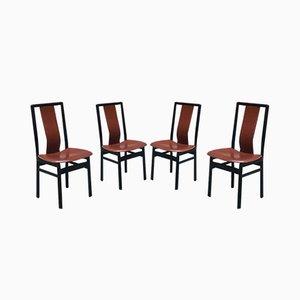 Chaises de Salon Vintage en Bois Noir