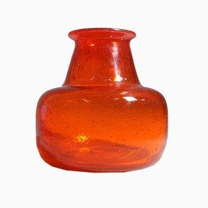 Vase Mid-Century en Verre par Erik H