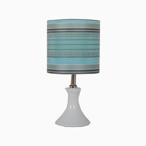 Weiße deutsche Mid-Century Glas Tischlampe von Ingo Maurer für Design M, 1960er