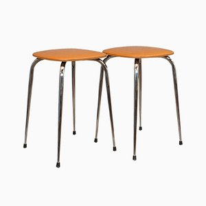 French Leatherette Lounge Stools, 1960s, Set of 2