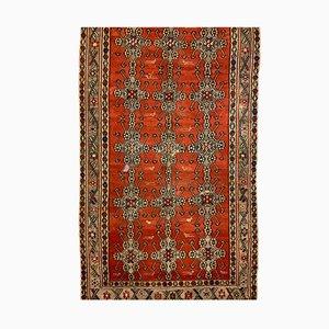Large Vintage Turkish Red & Black Wool Kilim Rug