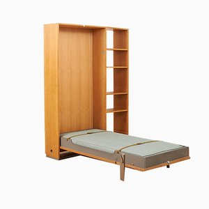 Mid-Century Oak Model RY-100 Folding Bed by Hans J. Wegner for Ry Møbler, 1960s