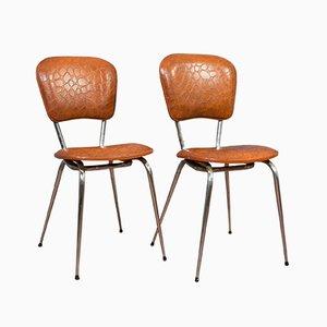 Französische Esszimmerstühle, 1960er, 2er Set