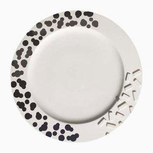 Vintage Rucola Keramik Teller von Ettore Sottsass für Flavia, 1980er