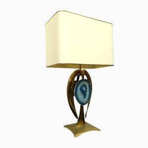 Lampe de Bureau Vintage en Laiton par Willy Daro