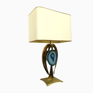 Vintage Brass Table Lamp by Willy Daro