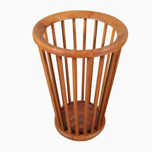 Mid-Century Dutch Wooden Umbrella Stand by Willem Van Gelderen for t Spectrum, 1950s
