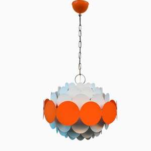 Lacquered Iron Ceiling Lamp by Doria Leuchten, 1960s