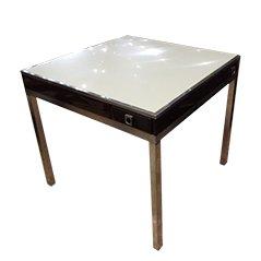 Mid Century Eisen und Stahl Spieltisch von Guy Lefevre für Jansen