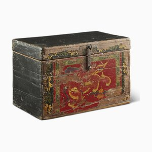 Antique Foo Dog Box