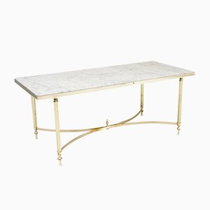 Marble & Brass Coffee Table, 1950s