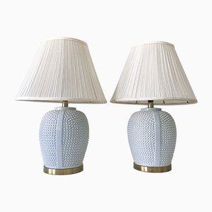 Deutsche Mid-Century Modern Keramik Tischlampen, 1960er, 2er Set