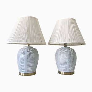Mid-Century Modern German Ceramic Table Lamps, 1960s, Set of 2