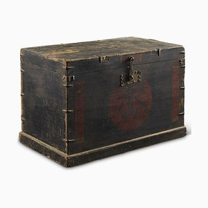 Antique Chinese Merchants Travel Chest