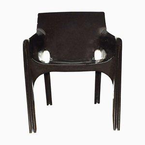 Silla Gaudi marrón de Vico Magistretti para Artemide, años 70