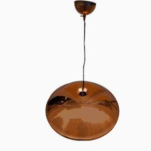Kupfer Deckenlampe, 1970er