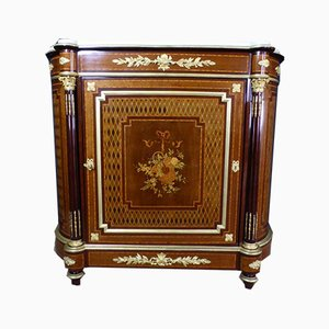 Antique XIX Marquetry Inlaid Buffet