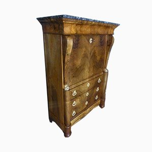 Antique Restoration Period Walnut Secretaire