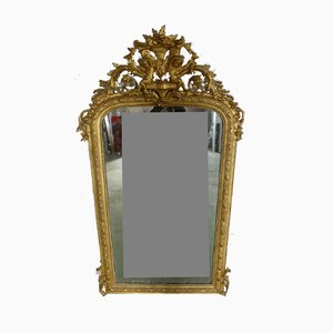 Antique XIX Angelot Mirror