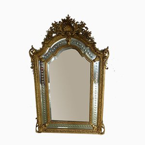 Antiker Napoleon III Spiegel mit Reserven