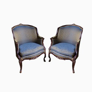 Fauteuils Style Louis XV Antique, Set de 2