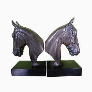 Bronze Bookends, Set of 2