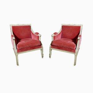 Antike Louis XVI Armlehnstühle, 2er Set