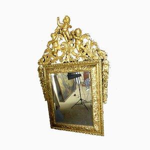 Antiker Regency Spiegel mit goldenem Holzrahmen