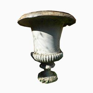 Antique XIX Medici Cast Iron Vases, Set of 2