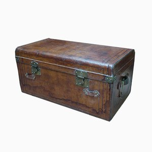 Antique XIX Leather Trunk