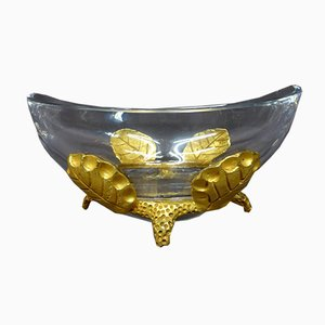Antique Crystal and Bronze Cup