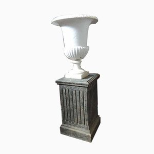 Antique XX Medici Cast Iron Vase