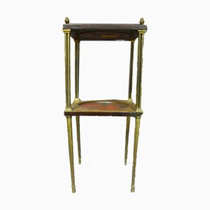 Antique Lacquer And Marquetry Side Table