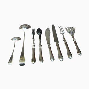 Antique Silver Metal Cutlery Set